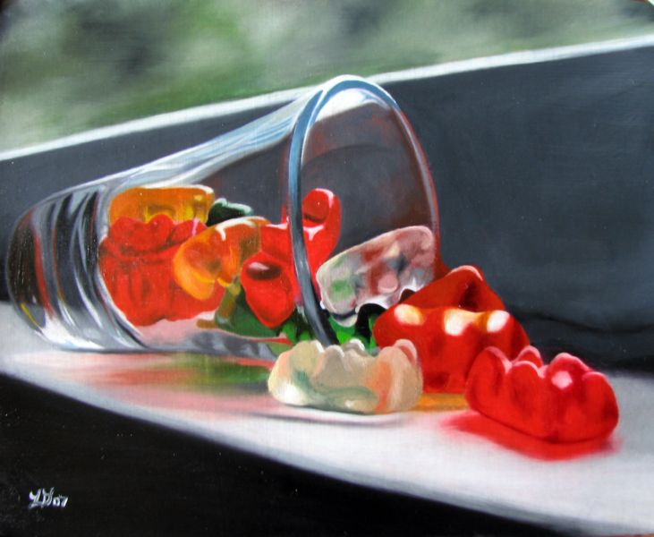 """Spilled Gummies"" original fine art by Lauren Pretorius"