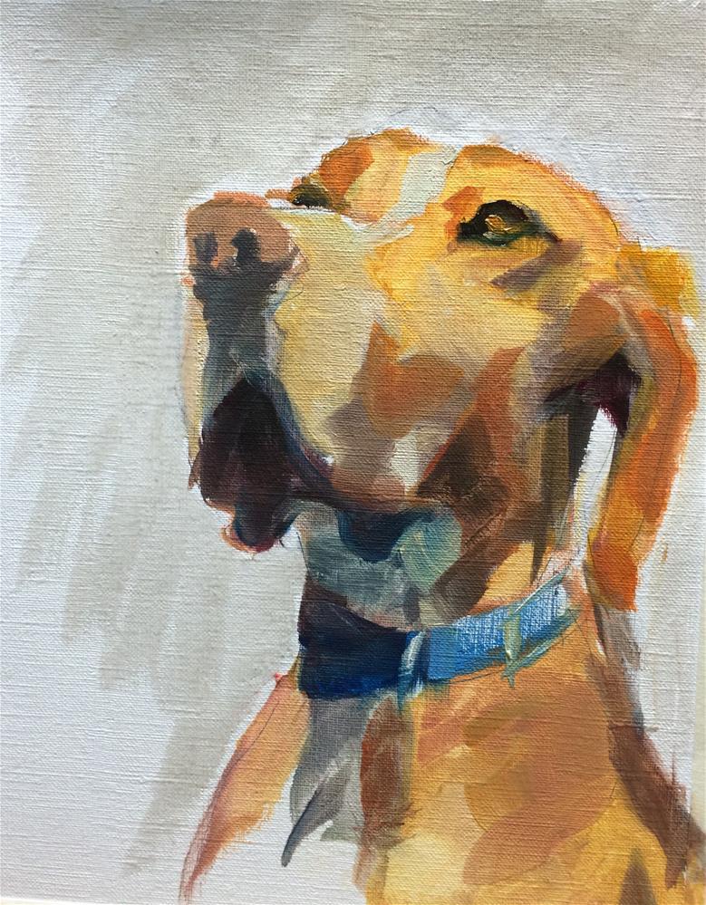 """""""Red Brown Dog"""" original fine art by Naomi Bautista"""