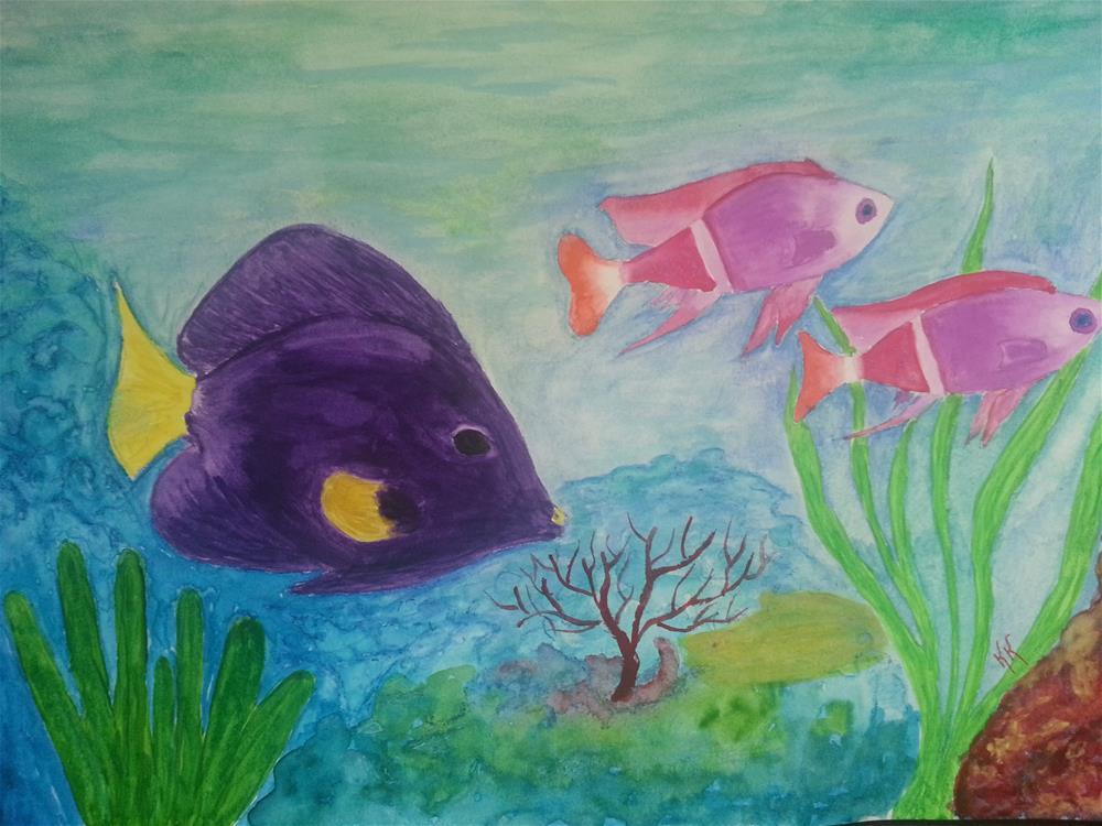 """Swimming With Friends"" original fine art by Karleen Kareem"