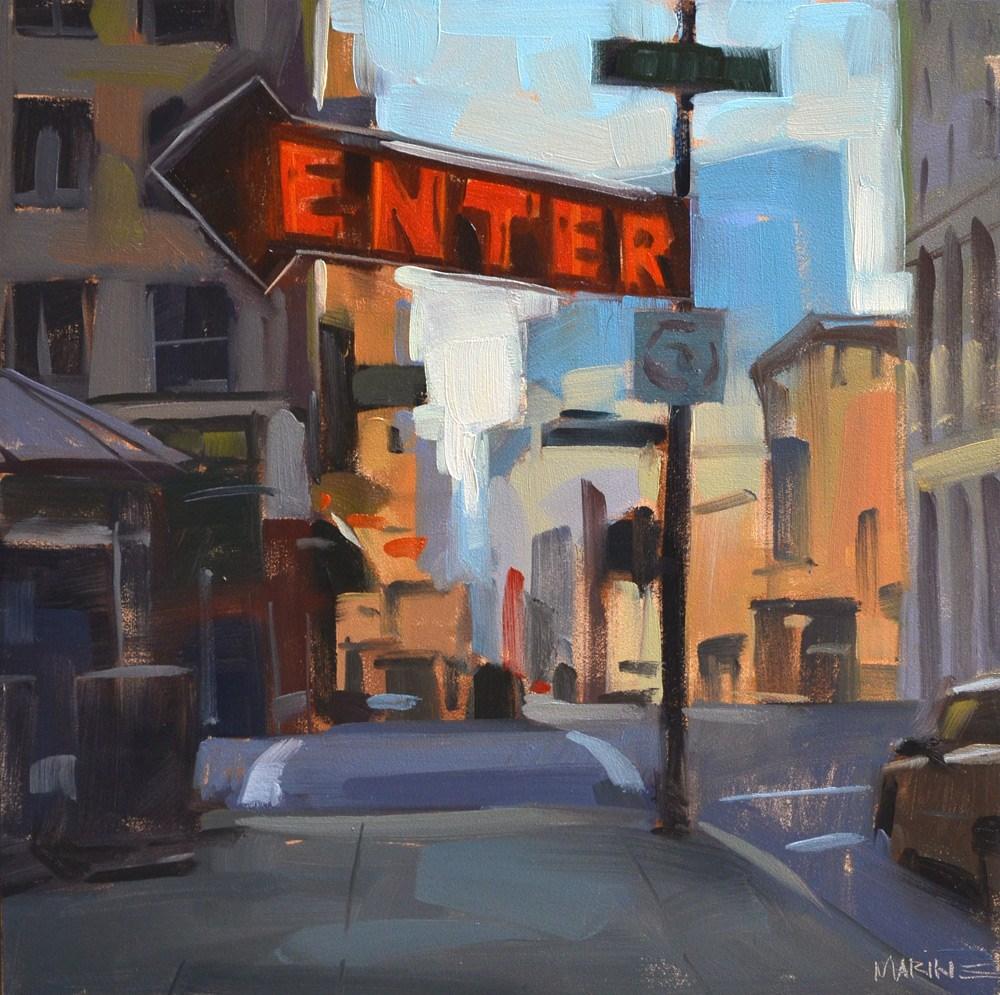 """Enter Here"" original fine art by Carol Marine"