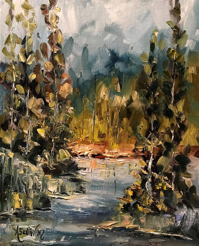"""Paint Me A Tree landscape painting by Alabama Artist Angela Sullivan"" original fine art by Angela Sullivan"