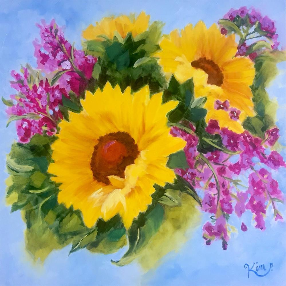 """Sunflower Joy"" original fine art by Kim Peterson"