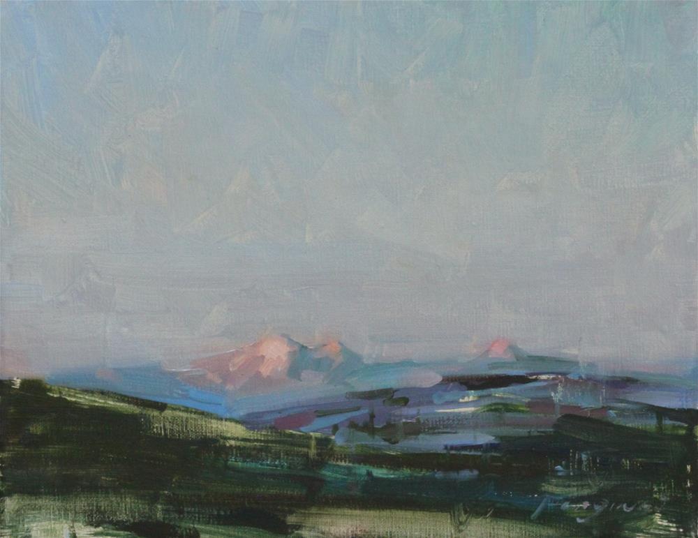 """""""Alaska Sunset"""" original fine art by Fongwei Liu"""