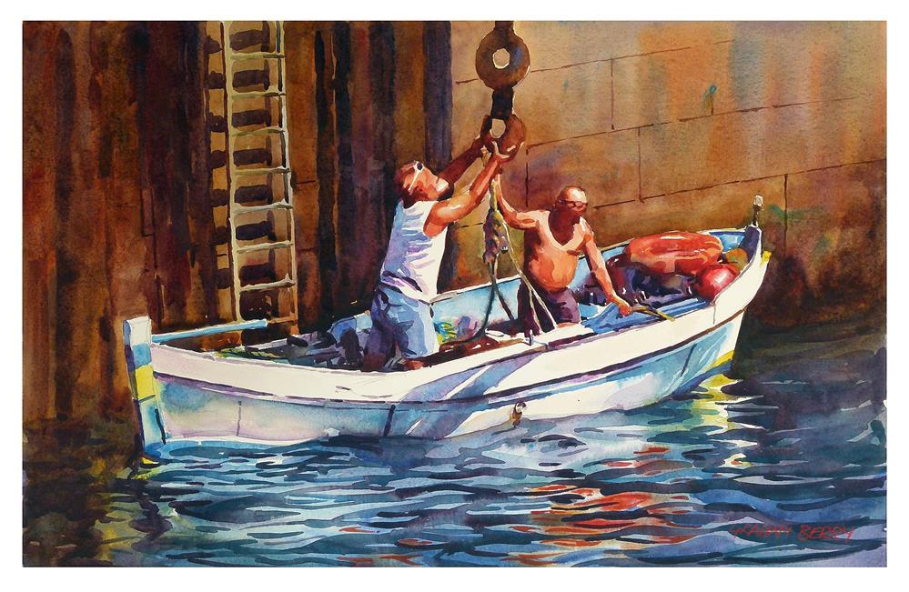 """""""'Hooking up.'"""" original fine art by Graham Berry"""