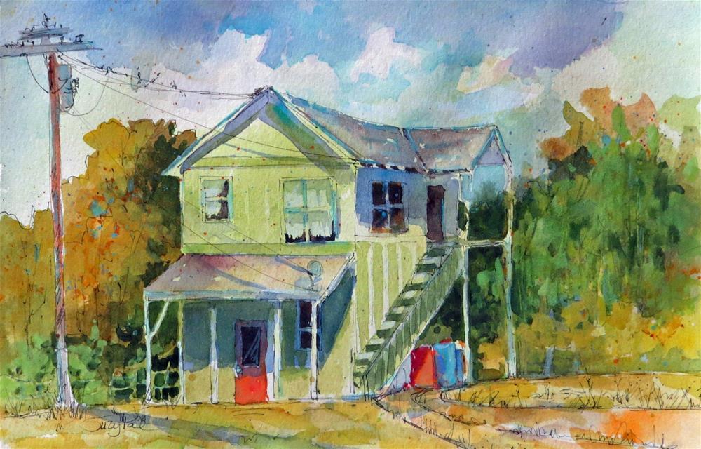 """All Green"" original fine art by Suzy 'Pal' Powell"