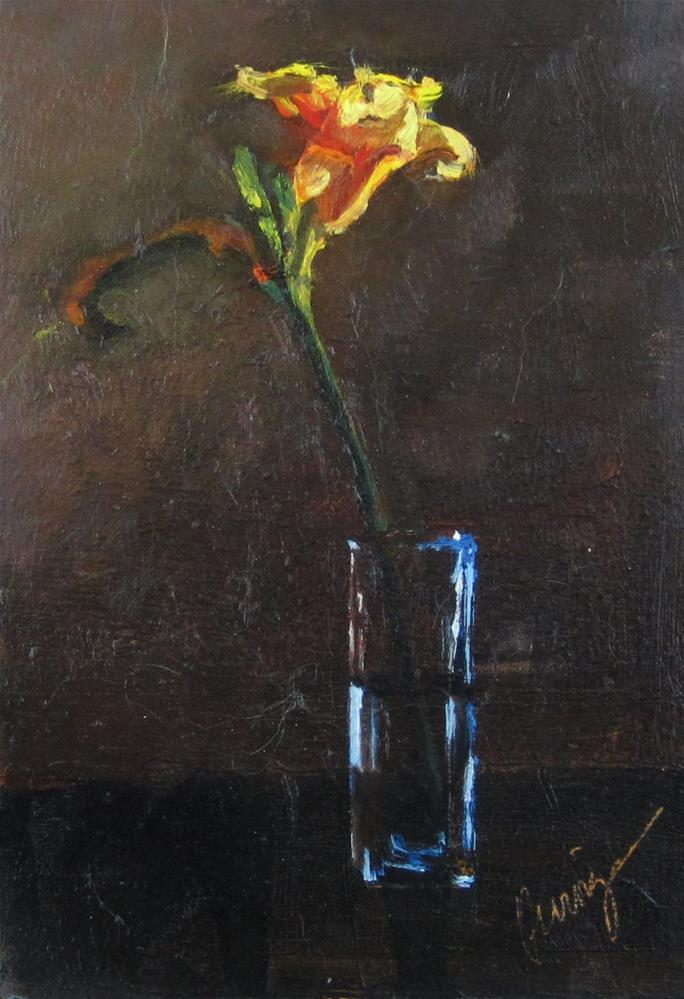 """""""Day Lily"""" original fine art by Sharman Owings"""