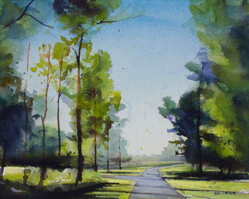 """Amherst Bike Path"" original fine art by Chris Breier"