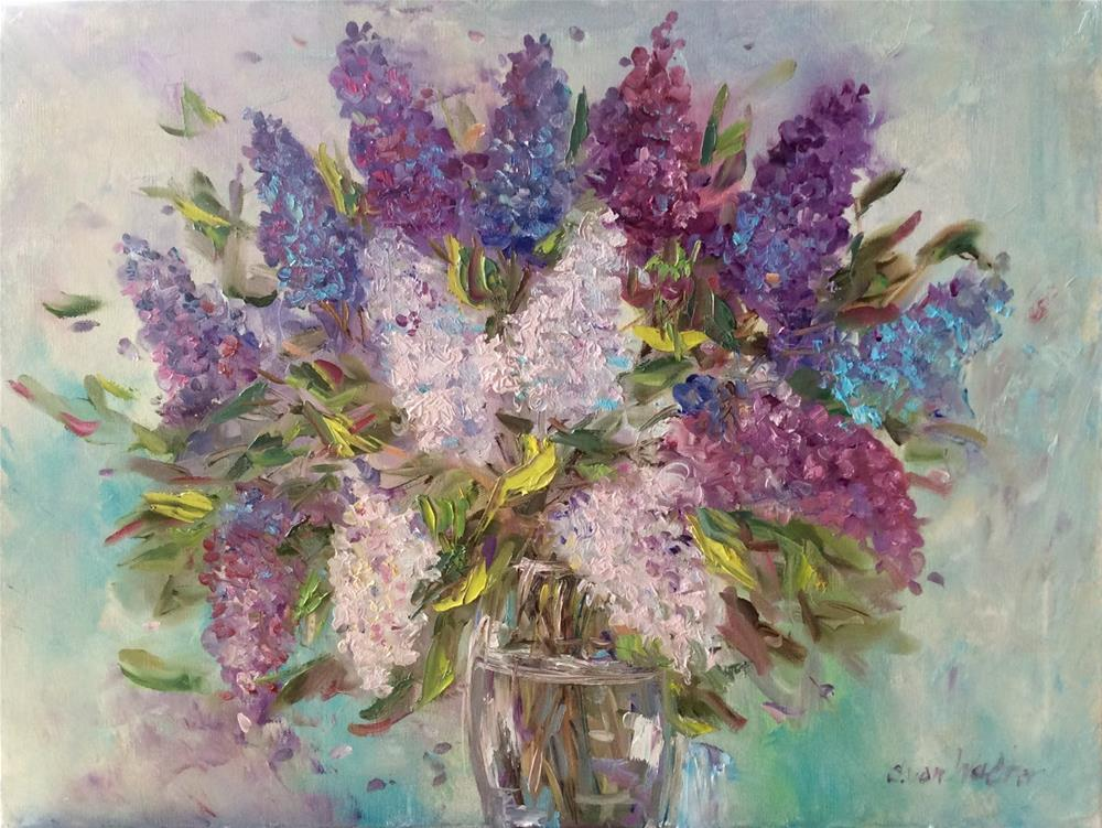 """Summer lilacs"" original fine art by Sonia von Walter"