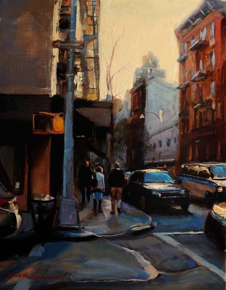 """""""Almost Dusk in Manhattan"""" original fine art by Jonelle Summerfield"""