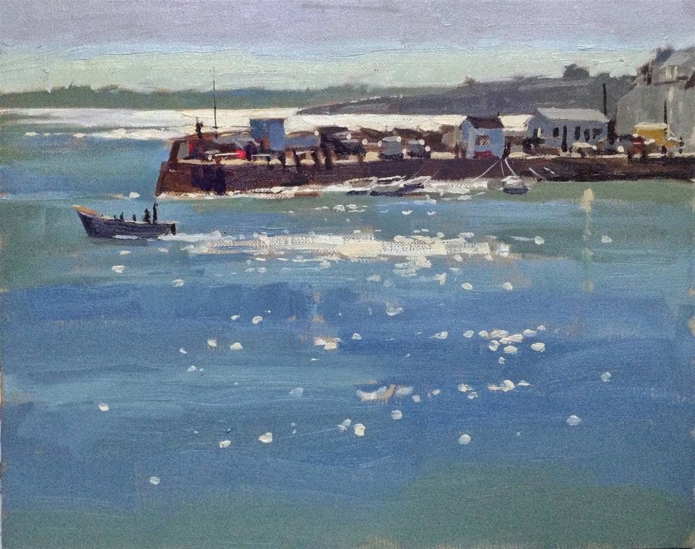 """""""Sparkling light at St Mawes"""" original fine art by Haidee-Jo Summers ROI"""