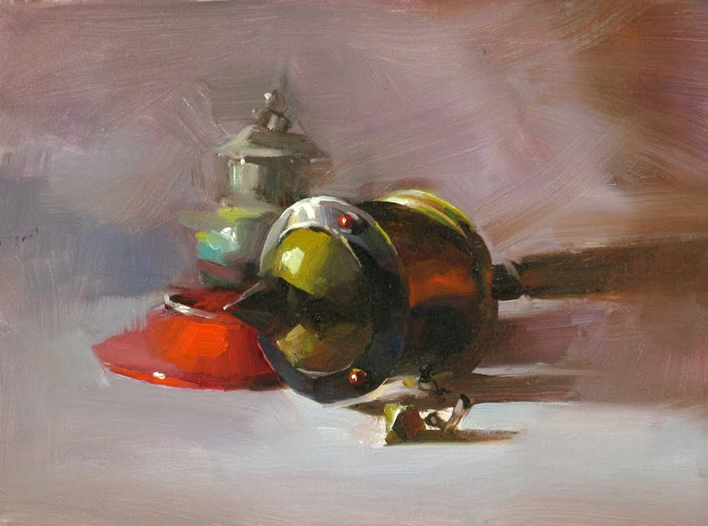 """Wheel of Dharma"" original fine art by Qiang Huang"