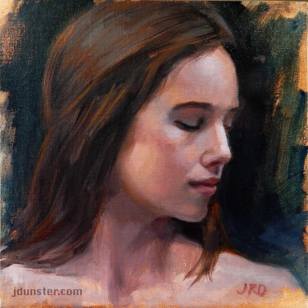 """Demure"" original fine art by J. Dunster"