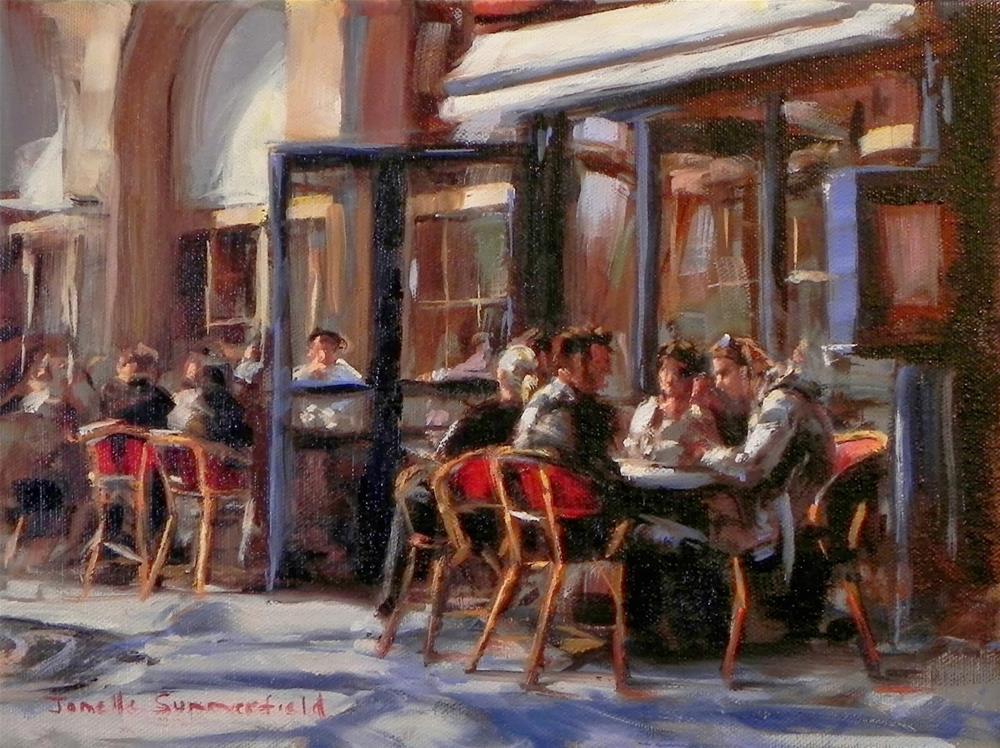 """""""Cafe in Paris II"""" original fine art by Jonelle Summerfield"""