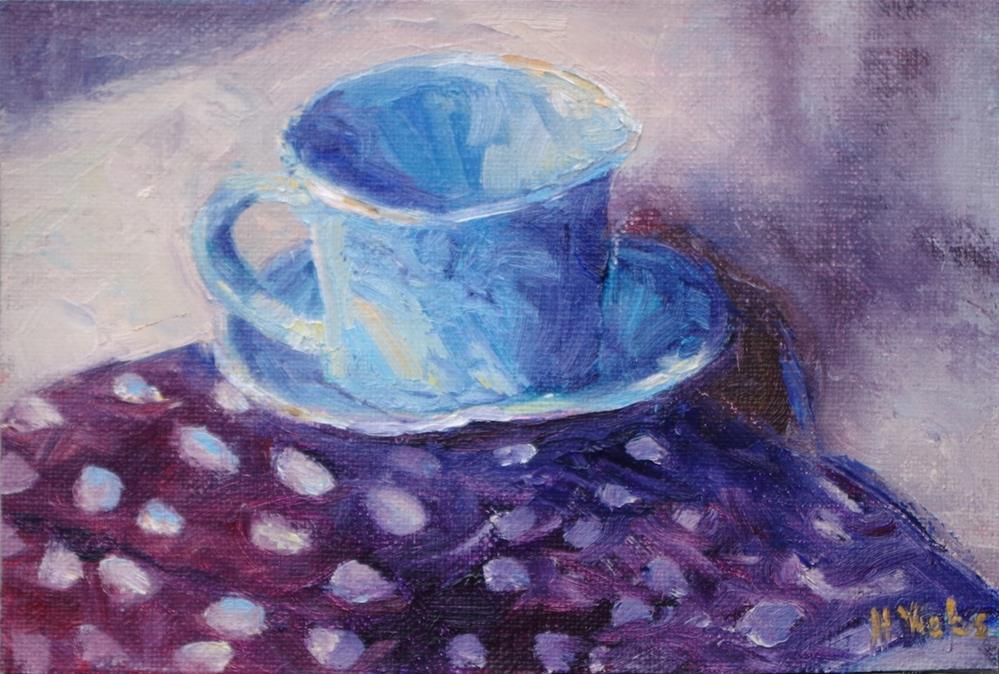 """""""First Cup Different Day"""" original fine art by Helen Viebrock Hamel"""