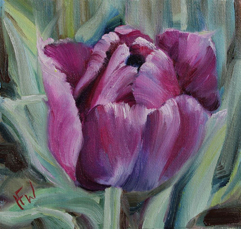 """Tulip 4"" original fine art by H.F. Wallen"