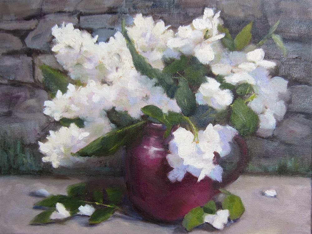 """French Whites"" original fine art by Pat Fiorello"