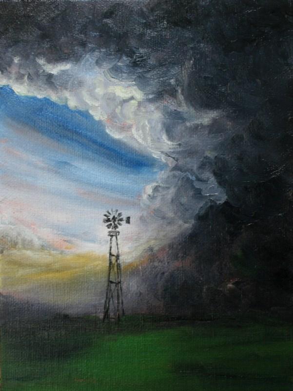 """Stormy Weather"" original fine art by Jean Nelson"
