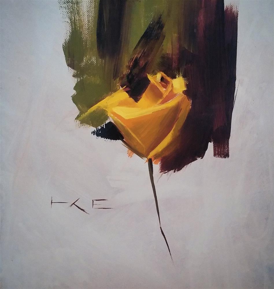 """Yellow Rose"" original fine art by Thorgrimur Andri Einarsson"