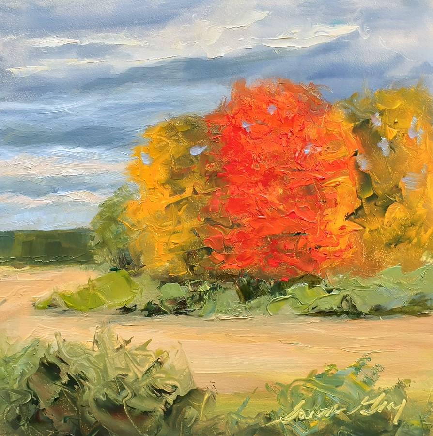 """#163 - Autumn Foliage - New Gloucester, ME"" original fine art by Sara Gray"