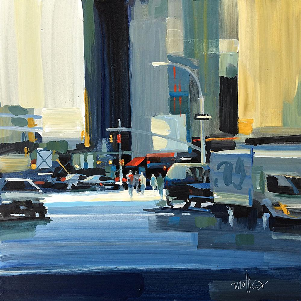 """Looking South on Tenth Ave."" original fine art by Patti Mollica"