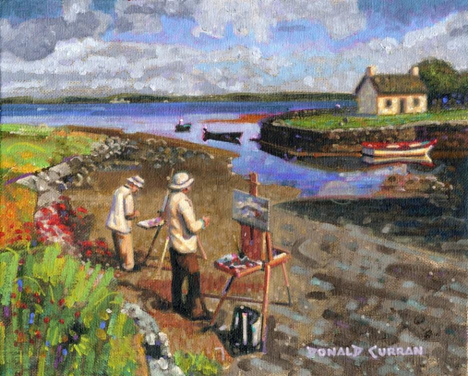 """Painting Ireland"" original fine art by Donald Curran"