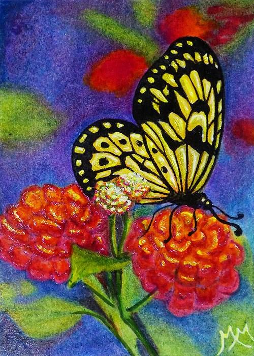"""""""Butterfly Summer"""" original fine art by Monique Morin Matson"""