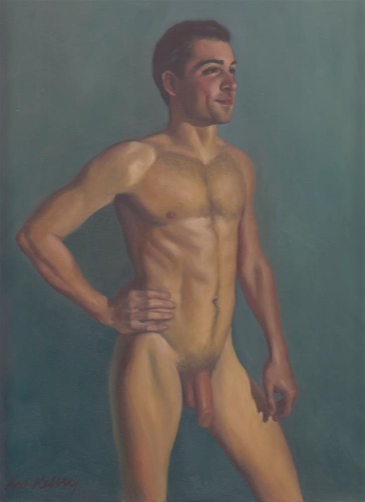"""""""Standing Male Nude"""" original fine art by Pat Kelley"""