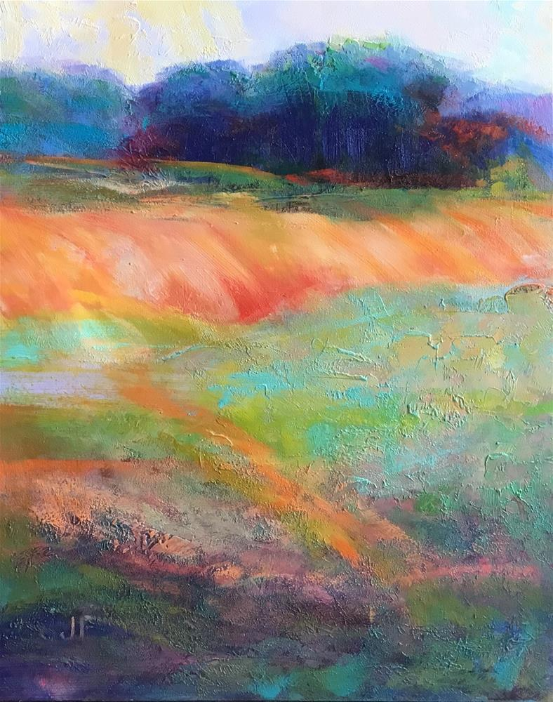 """Distant Trees"" original fine art by Charlotte Fitzgerald"