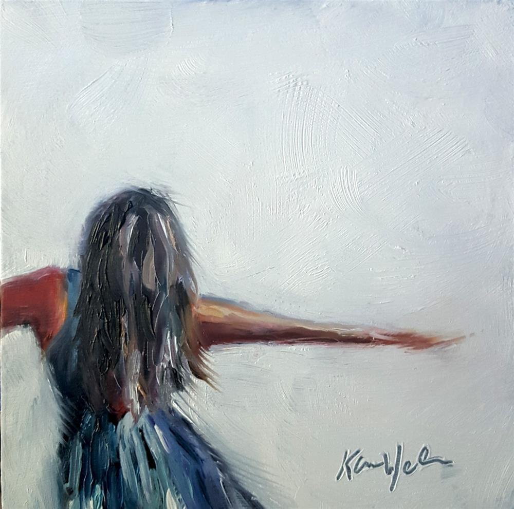 """Learning to Fly"" original fine art by Karen Weber"