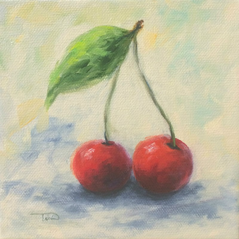 """New Year Cherries"" original fine art by Torrie Smiley"
