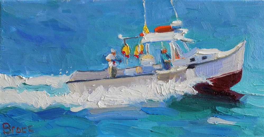 """The Boat Wake"" original fine art by Rita Brace"