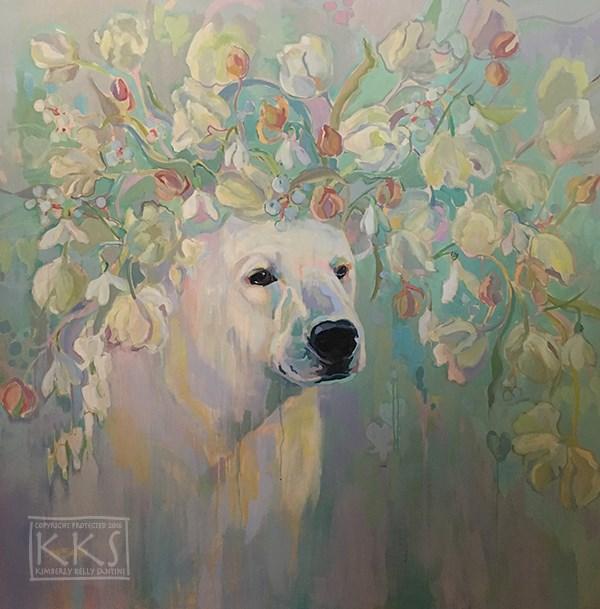 """Snowdrop"" original fine art by Kimberly Santini"