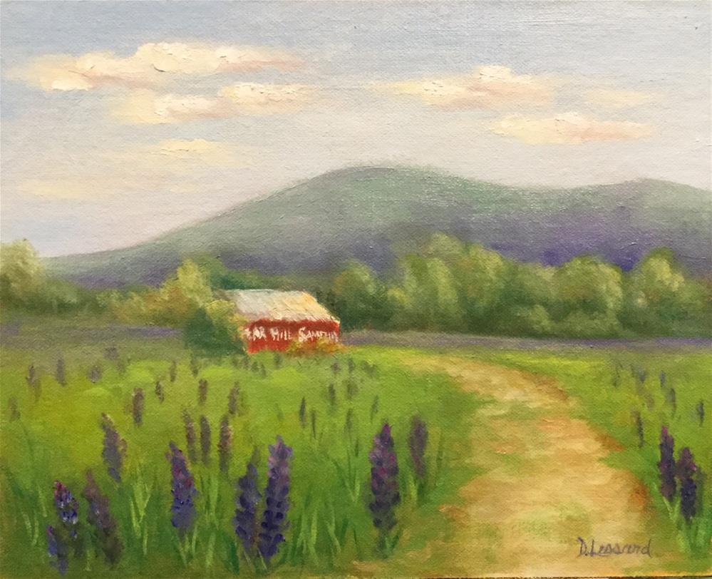 """""""Lupins"""" original fine art by Dee Lessard"""