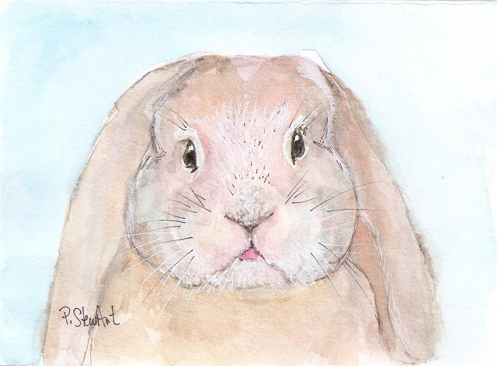 """Bunny Rabbit Watercolor Painting art Penny Stewart"" original fine art by Penny Lee StewArt"