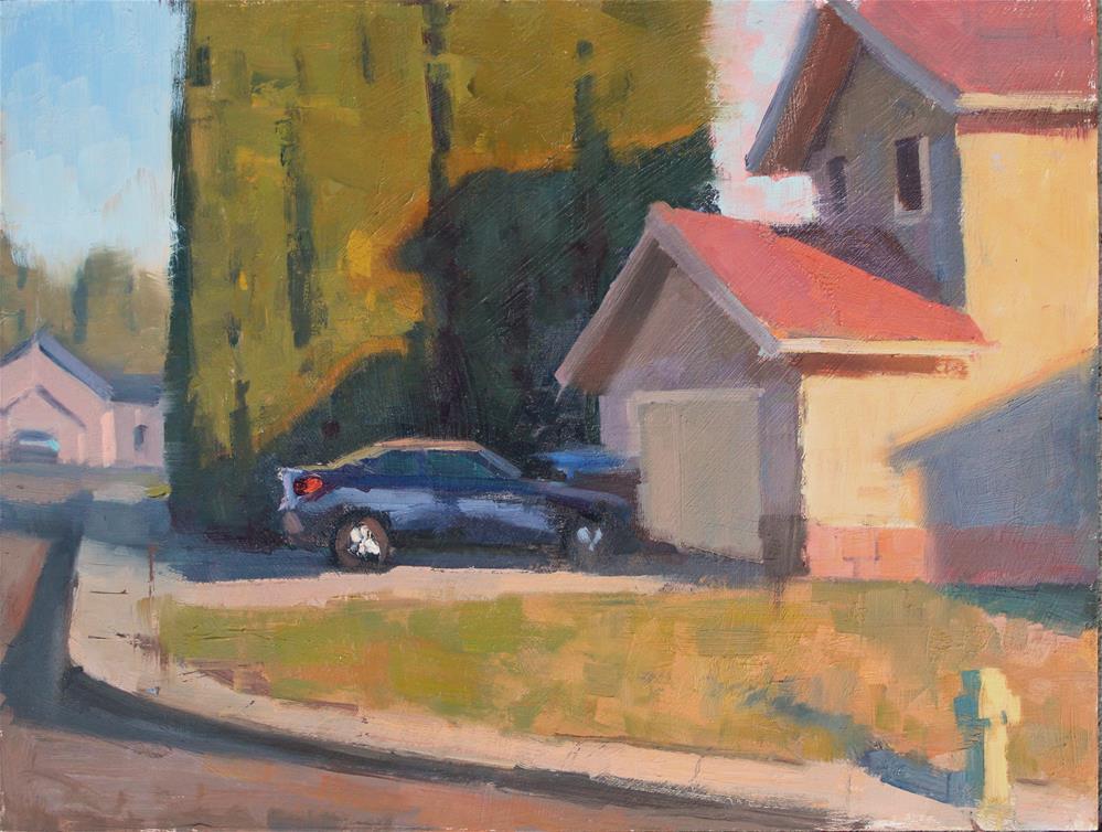 """Day's End in Suburbia"" original fine art by Kristian Matthews"