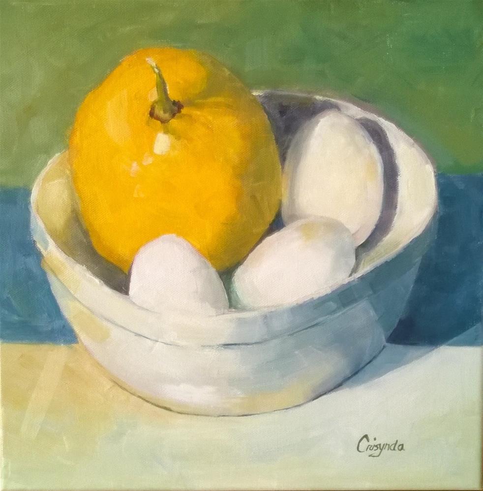 """Lemon Meringue"" original fine art by Crisynda Buss"