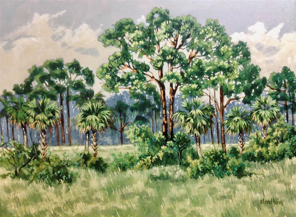 """Blue Cypress Lake Road Farm"" original fine art by Linda Blondheim"