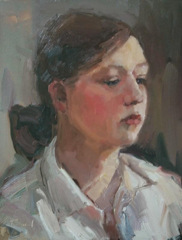 """Watching"" original fine art by Kathryn Townsend"