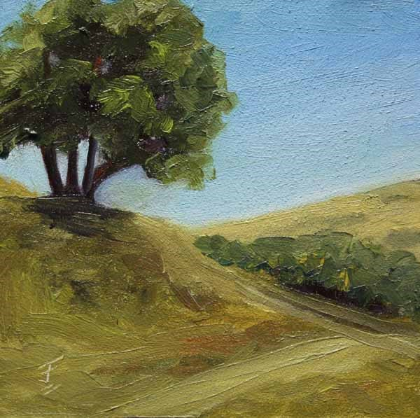 """Over the Hill"" original fine art by Jane Frederick"