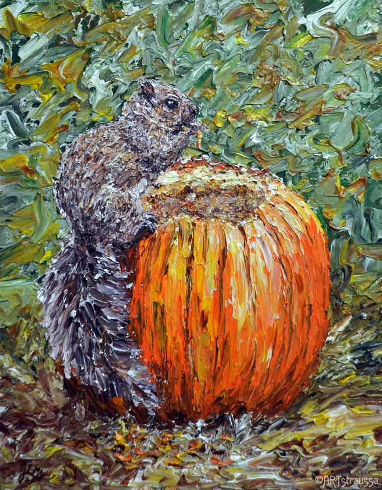 """SALE!!!Pumpkin Eater"" original fine art by Gloria Ester"
