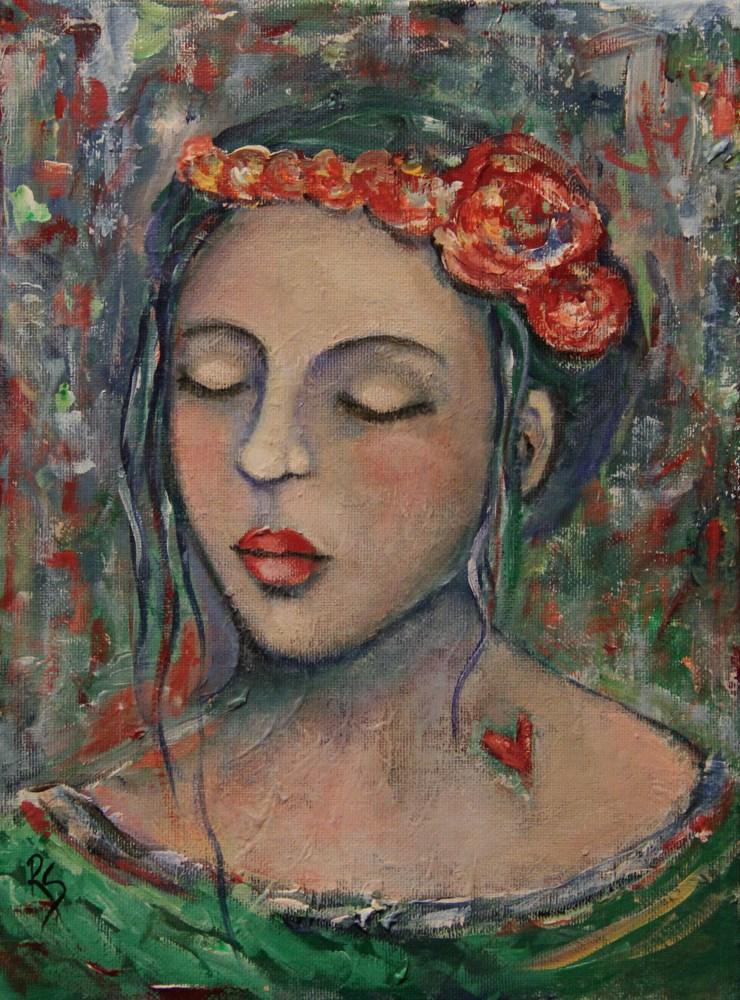 """""""Sweetheart"""" original fine art by Roberta Schmidt"""