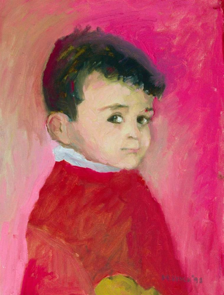 """""""The Teddy"""" original fine art by Marie Lynch"""