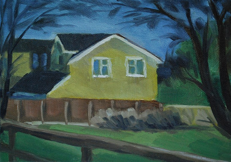 """Yellow House I"" original fine art by J M Needham"