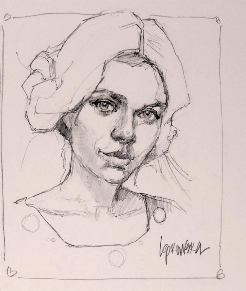 """Day 9 - January Challenge"" original fine art by Laurie Johnson Lepkowska"