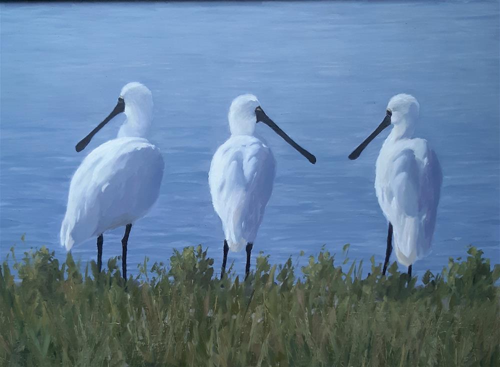 """Wetlanders"" original fine art by Karen Johnston"