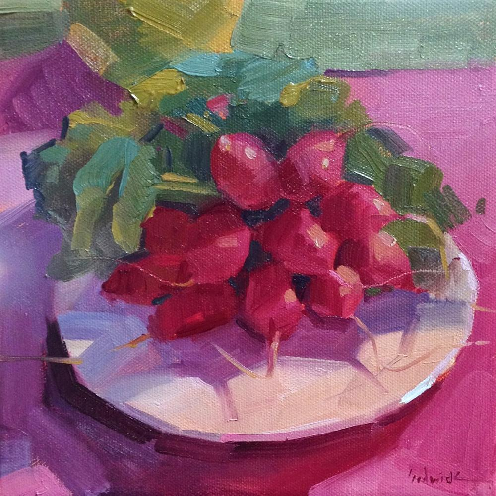 """Crimson Radishes"" original fine art by Sarah Sedwick"