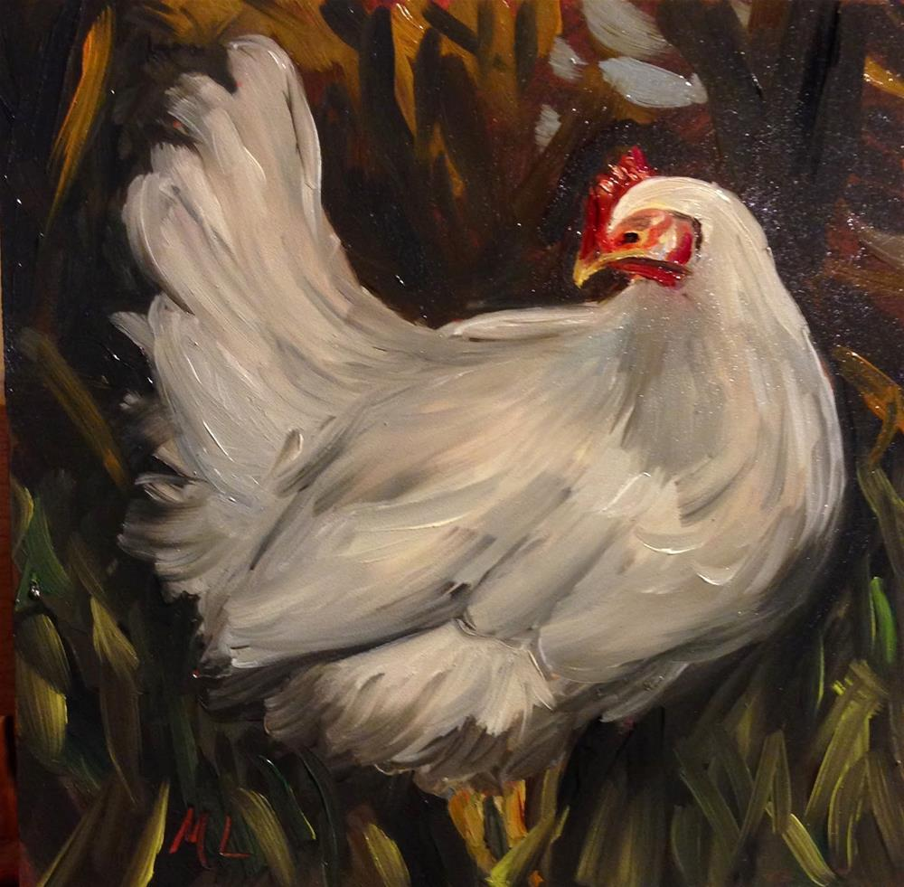 """You're a Chicken"" original fine art by Marjie Laizure"