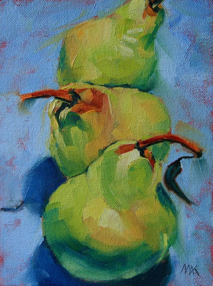 """""""Three in a Row"""" original fine art by Mary Anne Cary"""