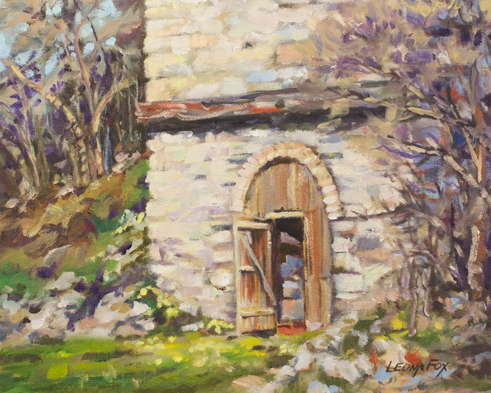 """Lime Kiln"" original fine art by Leona Fox"