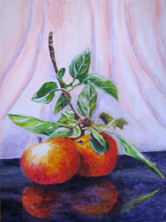 """Apples 2"" original fine art by Nan Johnson"